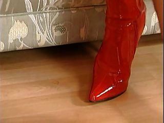 Botas nicoletta azul vermelho