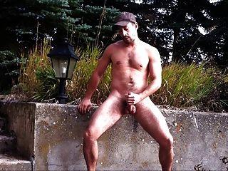 Um wank no parque
