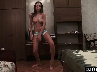 Fita de audição exposta: menina universitária filmes striptease sexy