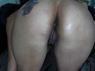 Show de lésbica de dois busty cam girl