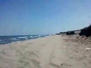 Sandra, soprando, namorado, praia