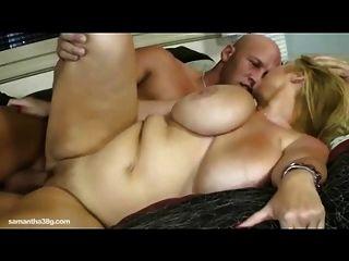 Sexy bbw milf samantha 38g fode enorme musculação stud