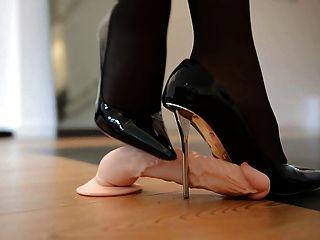 Sapateando shoejob em salto alto designer \u0026 55cm corset