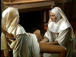 Clássico, lésbicas, freiras, magnífico, fisting