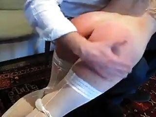 Otk spanking em meia branca