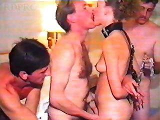 British slut esposa em hotel gangbang