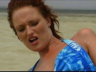 Britânica slut donna marie fica fodido no mar