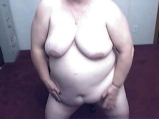 Avó gorda em uma cam r20