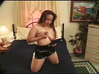 Asiático, grande, niples, leite