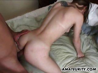 Namorada amadora anal com ejaculação loira