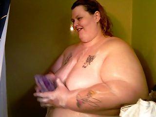 Pela primeira vez em vídeo de mim no chuveiro