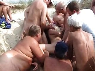 Bukkake praia