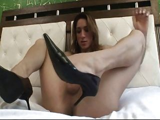 Dupla sexy do curso da tira n do shemale