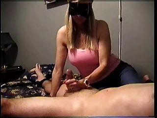 Feminino, handjob, alto, orgasmo