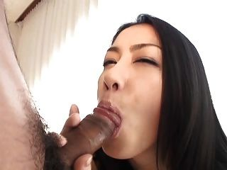 Japanese girl sucks cock 2