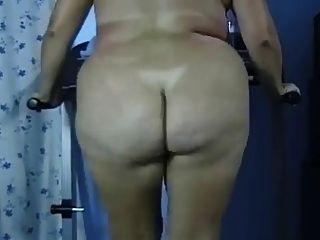 Bbw butt nua gordo ass treadmill exercício negrofloripa