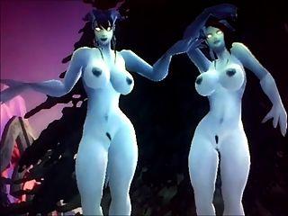 Mundo de warcraft empurrão fora 3 irmãs de draenei
