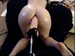 Enorme dildo anal