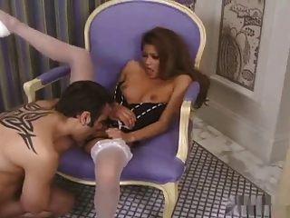 Sexy asian charmaine estrelas sexo em salto alto \u0026 meias