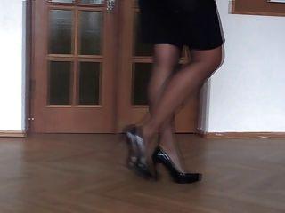 Minhas pernas de salto alto