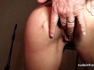 Mamãe francesa fodida anal difícil e facialized em 3way