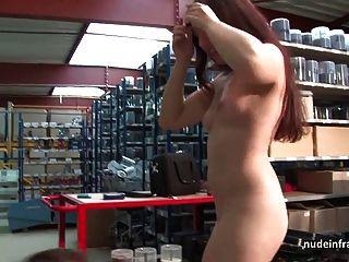 Bela jovem francês slut profunda anal fodido e cum à boca