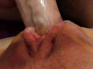 Cum coberto buceta suculento pussy coberto em cum bichano agradável