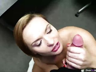 Horny step mom handjob