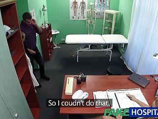 Enfermeira fakehospital suga dick para amostra de esperma