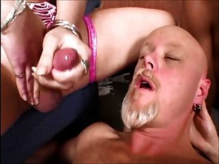 Hot cum shemale cumshot