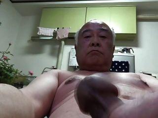Homem velho japonês todo trabalho de auto nu