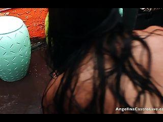 Angelina castro e miss raquel pussy jogar na chuva!