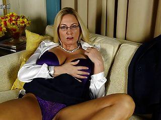 Grande, breasted, americano, prostituta, mãe, pelado, bichano
