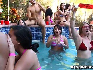 Partido da piscina do bachelorette
