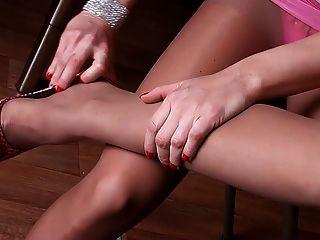 Pernas sexy em meia-calça