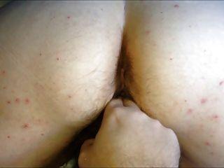 Bbw big ass peludo buceta esposa doggy dedilhando orgasmo feminino