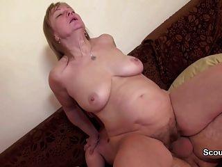 Mãe e pai alemães no casting pornô privado