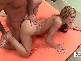 Menina sexy colagem fodido como uma puta