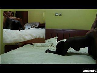 Sexo do hotel com a menina africana quente!