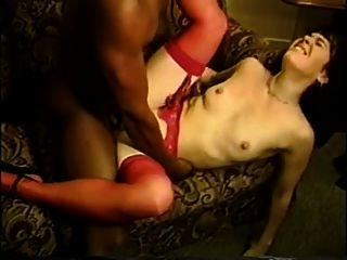 Esposa cuckold amador com 2 grandes galos pretos