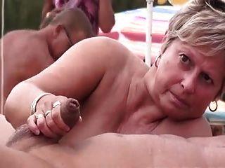 Swingers, nudista, praia