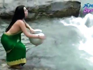 Desi, menina, transparente, molhados, saree, mostrando, boobs..hot, mostrar