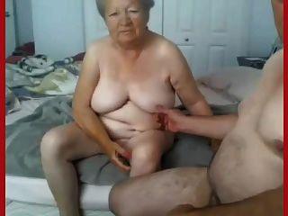Vovó e vovô nu na câmara