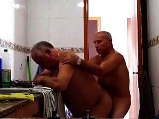 Vovôs na cozinha