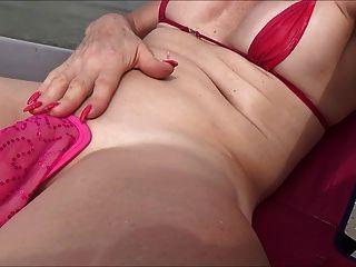 Sissy, puta, praia, c, corda, rosebud
