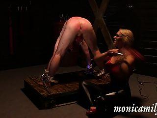 Dentro de dungeon monicamilf 30 min como um escravo femdom