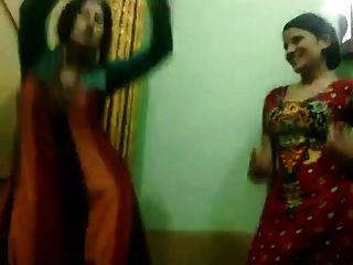 Pakistani, quente, não, aunties, apreciar, dança