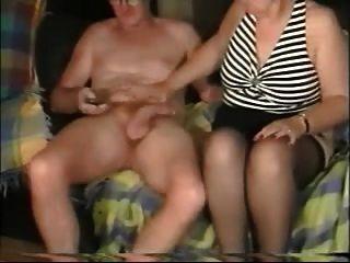 Amador, mais velho, par, desfrutando, sexo