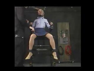 Cadeira de metal tortura electic bdsm panythose