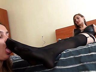 Russa amante usar escravo lésbica pé